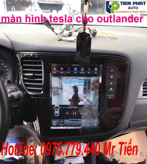 Gắn Màn Hình DVD Tesla Cao Cấp Cho Mitsubishi Outlander 2017-2018 Tại Tp.HCM