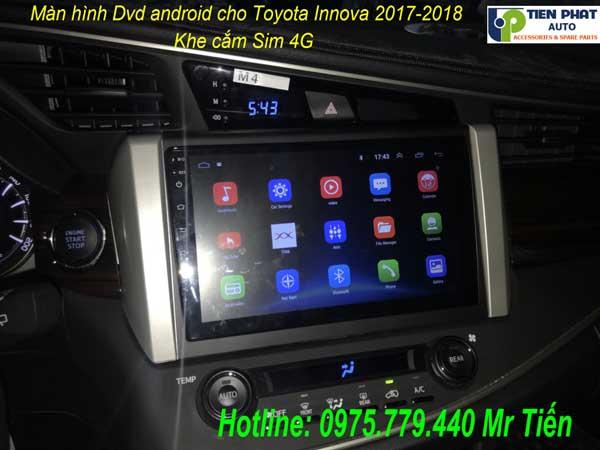 Màn Hình DVD Android Cho Toyota Innova 2017-2018 Cắm Sim 4G Giá Ưu Đãi