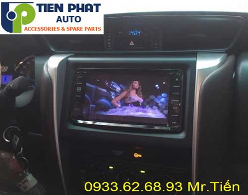 dvd chay android  cho Toyota Fortuner 2017 tai huyen Hoc Mon