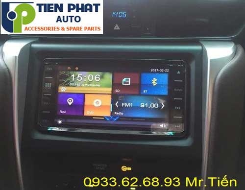cung cap man hinh dvd chạy android gia re uy tin cho Toyota Fortuner 2017 tai huyen Can Gio