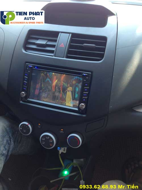 dvd chay android  cho Chevrolet Spack 2015 tai Huyen Hoc Mon