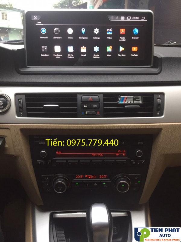 LẮP MÀN HÌNH ANDROID CẮM SIM 4G CHO BMW 320i E90