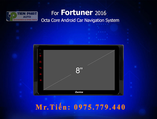 Lắp Màn Hình DVD Ownice C960 Cho Toyota Fortuner 2016