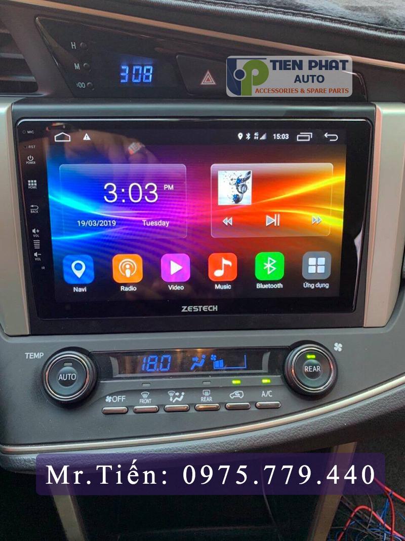Lắp màn hình DVD Zestech cho xe Toyota Innova 2018