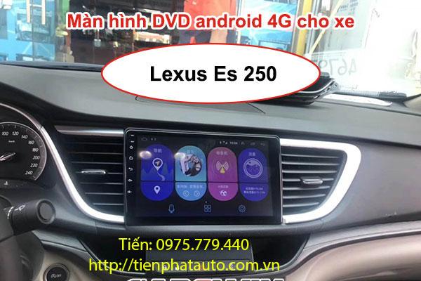 MÀN HÌNH DVD ANDROID CẮM SIM 4G CHO XE LEXUS ES250