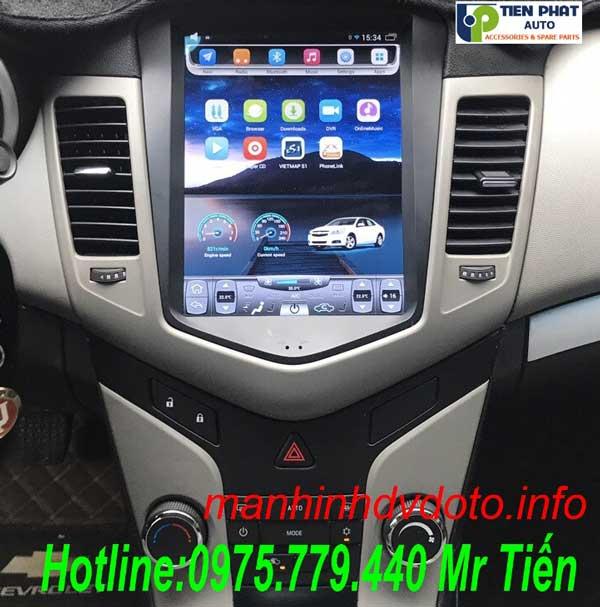 Màn Hình DVD Tesla Cao Cấp 12 inch Cho Chevrolet Cruze 2017-2018